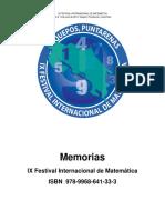 Libro de Memorias Ix Festival