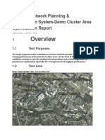 LTE FDD Cluster DT_Analysis Report