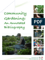 Community Gardening - An Annotated Bibliography