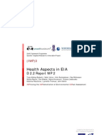 Health Aspects in Environmental Impact Assessment