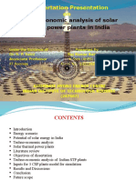 Techno-economic Analysis of STPPs in India