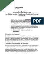 Querelles Cartésiennes Débat Entre Alquié Et Guéroult Adouli Khouloud