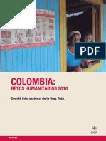 Informe Colombia Retos Humanitarios 2016 Cicr