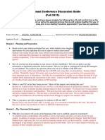 instructional conference form example