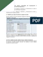 Categoria de Valoracion y Determinacion de Cuentas
