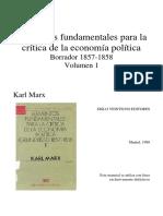 """D-Marx, K. (1989), """"Punto 3. El Método de La Economía Política"""", En Elementos Fundamentales Para La Crítica de La Economía Política (Grundrisse) 1857-1858."""