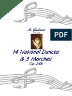 Giuliani Op 24b 14 National Dances 3 Marches