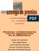 Entrega premios  Fuensanta