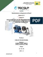 Rubrica de mantenimiento industrial- Fajas en V