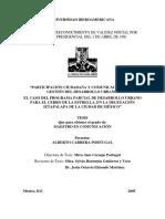 Participación Ciudadana y Comunicación en La Gestión Del Desarrollo Urbano