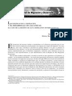 Los Dilemas de La Migración y El Desarrollo en Zacatecas