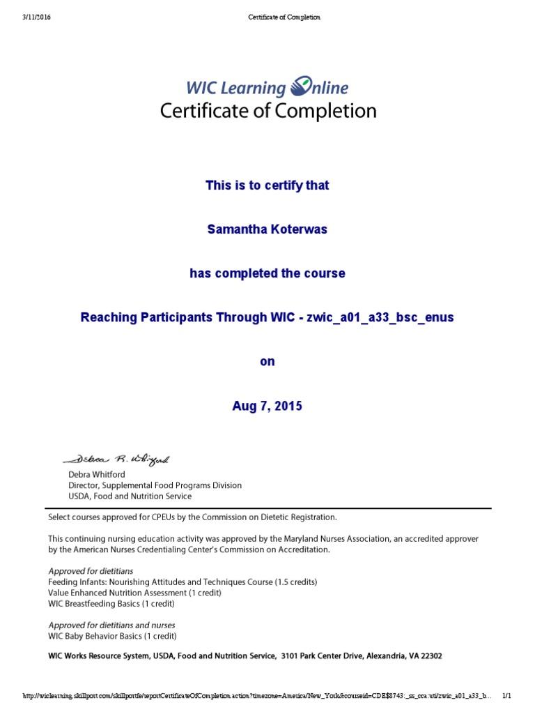 Wic Certificates Combined Wic Human Development