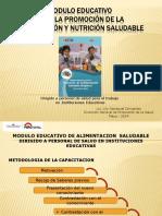 Presentación Del Módulo Educativo de Alimentación Taller Regional