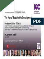 La era del desarrollo Sutentable