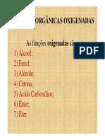 Nomenclatura Funções Orgânicas Oxigenadas