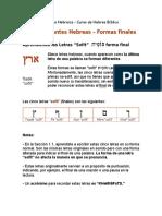 1.2 Consonantes Formas Finales