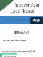 Proyección de inversión en México del hardware