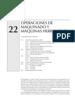 Operaciones de Maquinado y Maquinas Herramienta
