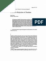 Foster, J. 1993, Dennett's Rejection of Dualism