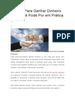 8 Dicas Para Ganhar Dinheiro Que Você Pode Por em Prática.docx