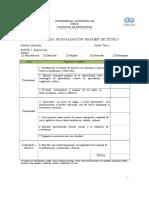 Pauta de Evaluación Examen de Título