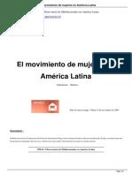 Centro de Documentación de Hegoa (2009). El Movimiento de Mujeres en América Latina. Conferencista Olga Lucía Ramírez