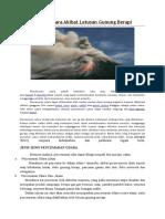 Pencemaran Udara Akibat Letusan Gunung Berapi