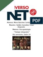 """Análisis de la Película """"SYBIL"""" - Psicopatologia - Integrador - CARLOS MORA"""