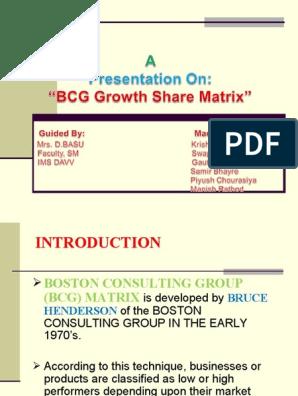 Bcg Matrix | Mathematical Finance | Economic Theories