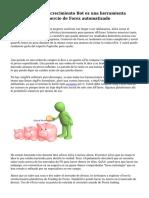 Por qué el Forex crecimiento Bot es una herramienta exitosa para el comercio de Forex automatizado