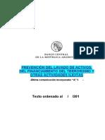 BCRA Lavado Dinero