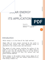 Solar Energy and applications.Ppt