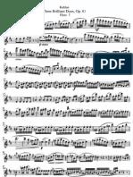 Brilliant Duos Op 81; 2 Flutes Kuhlau