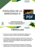 Agosto 28- Fibrinolisis