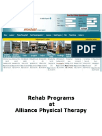 Rehab Programs at Alliance Physical Therapy