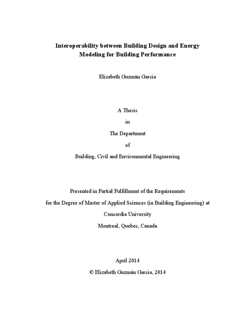 Thesis For Master Degree Buildings Performa