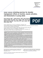 Motor Control Retraining Exercises for Shoulder Impingement Effects on Function Muscle Activation and Biomechanics in Young Adults