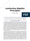 Distinctive Baptist Principles