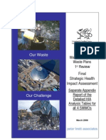 Wales 3 Regional Waste Plans 1st Review HIA - Seperate Appendix of Detailed Analysis Tables - FINAL - 28-Mar-08