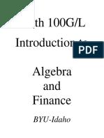Math 100GLTextBook
