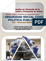 Seguridad Social  Como Politica Publica