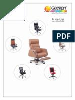 Geeken Chairs Price List Jan 2015