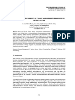 Analysis and Development of Change Management Framework In
