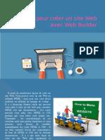 éTapes pour créer un site web avec web builder