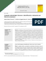 Fonseca, Alarcon, Cantín (2011) Lenguaje Odontológico Forense e Identificación Obstáculos Por Falta de Estándares.