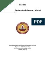 CE 4030 Hydraulics Lab Manual