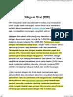 Mengenal Obligasi Ritel (ORI)