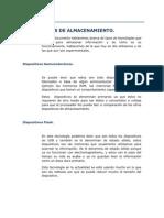 TECNOLOGIAS DE ALMACENAMIENTO