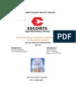 Ratio Analysismba Escorts Project