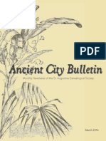 Ancient City Bulletin - March 2016